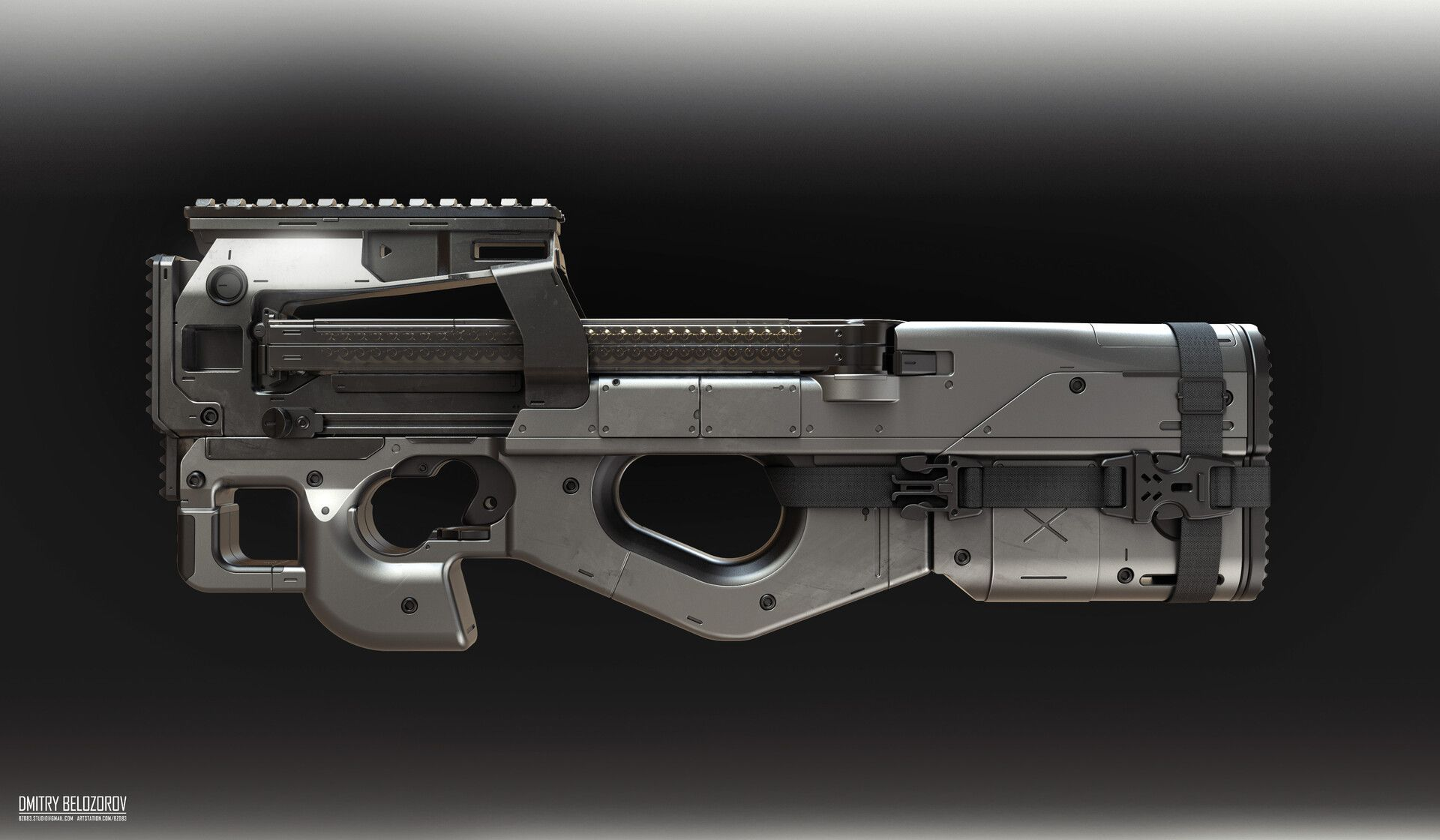 ArtStation P90 Black Series. Modification. Concept
