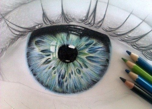 eye drawing color buscar con google - Color Drawings