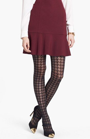 Nordstrom 'Houndscheck' Tights (2 for $24) available at #Nordstrom Size medium/large
