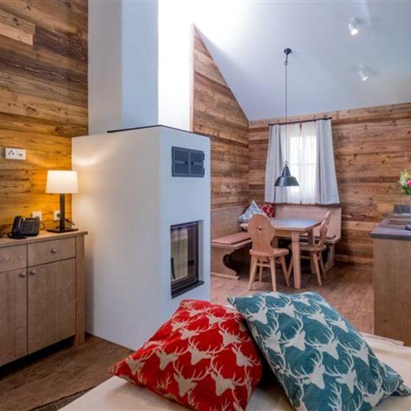gemütlicher Wohnbereich Kuschelhütte Wohnen, Ferienhaus
