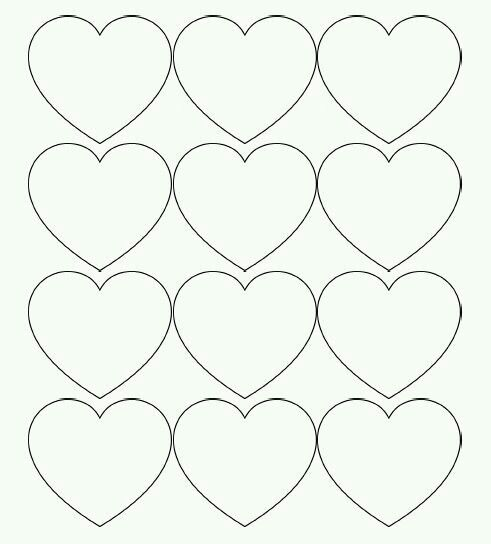 Printable Heart Template Image By Noralyn De Castro On Hearts