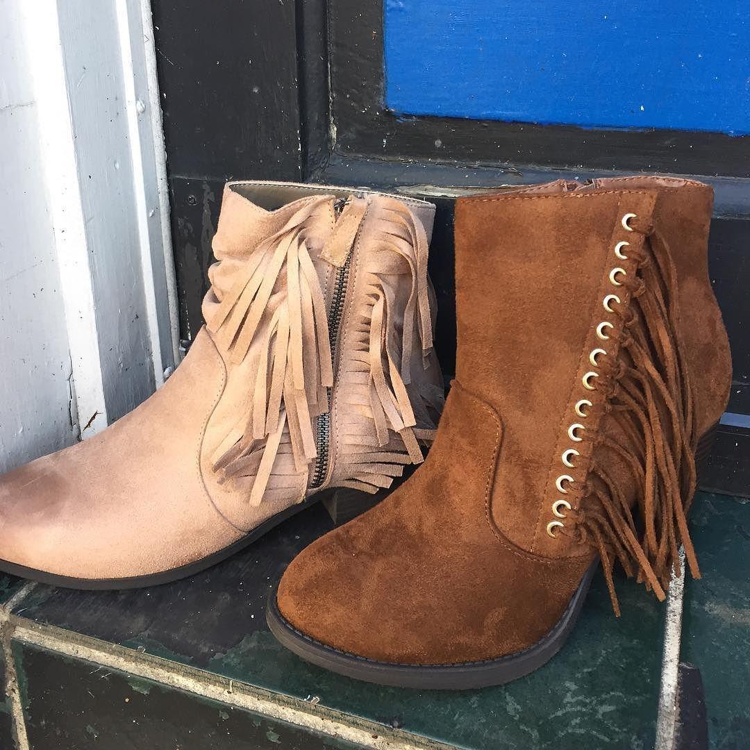 Shoe needs!!! Fringe booties- $36.95  #madisonsbluebrick #downtownhotsprings #sale #fringe #bootie #christmasshopping