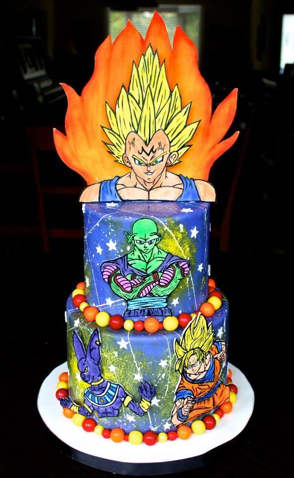 Dragon Ball Z Birthday Cake Kids Birthday Cakes Pinterest