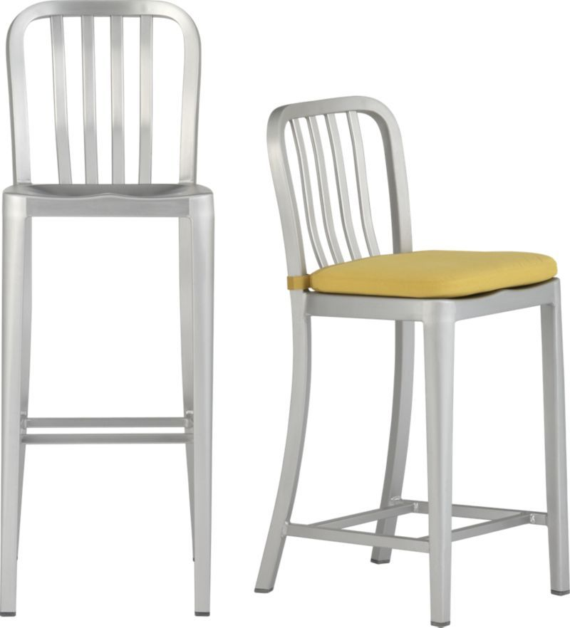 Delta Barstools And Cushion Crate And Barrel Counter Height 24 Inches Aluminum Bar Stools Dining Chairs Kitchen Chairs