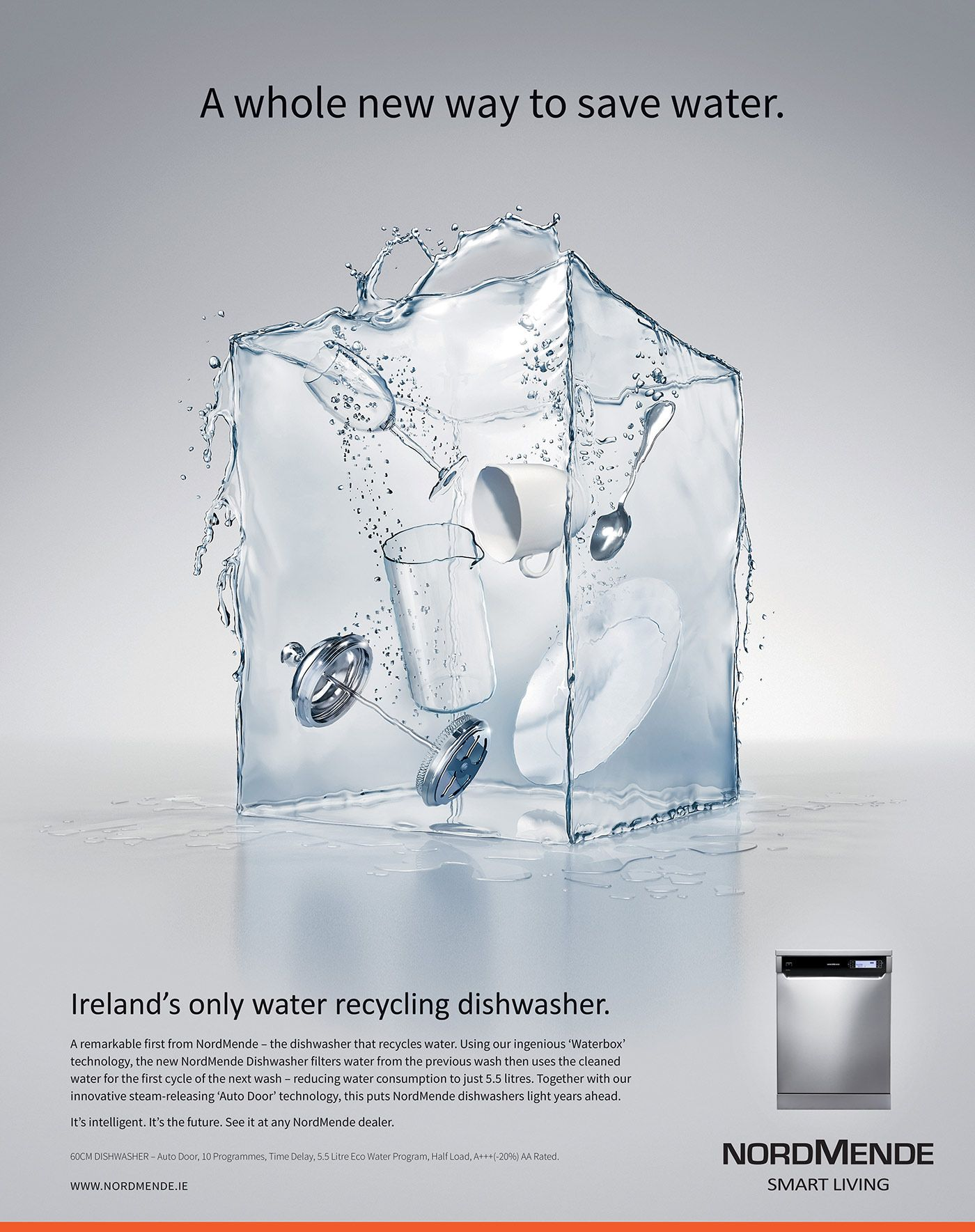 Nordmende Waterbox On Behance Creative Advertising Print Ads
