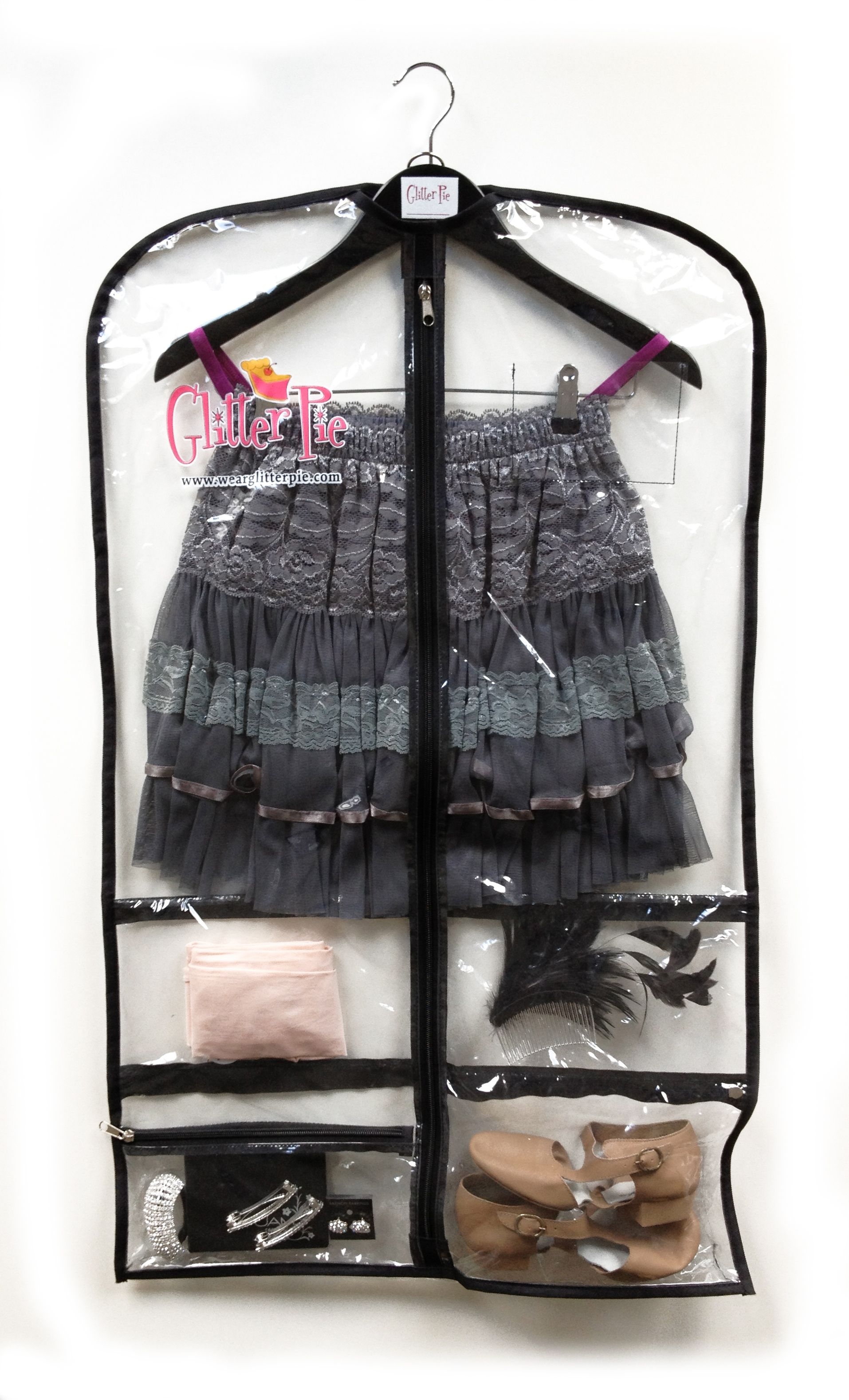Glitter Pie A5070 Clear Garment Bag