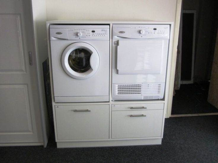 Kast Wasmachine Droogkast Ikea Home Bijkeuken