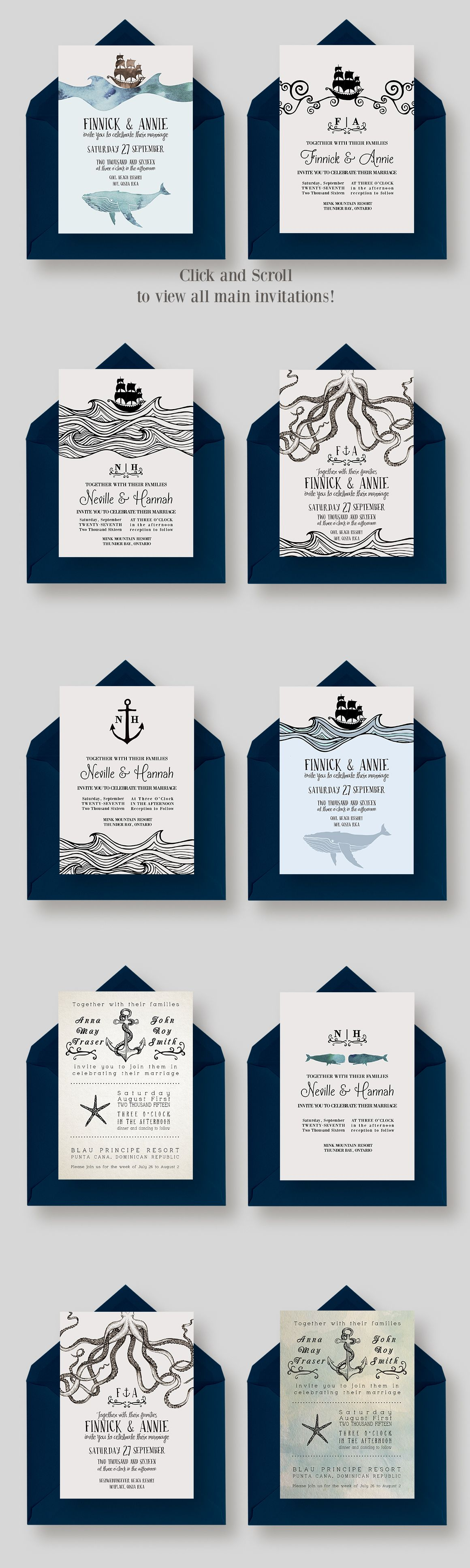 giant nautical wedding collection by knotted design on