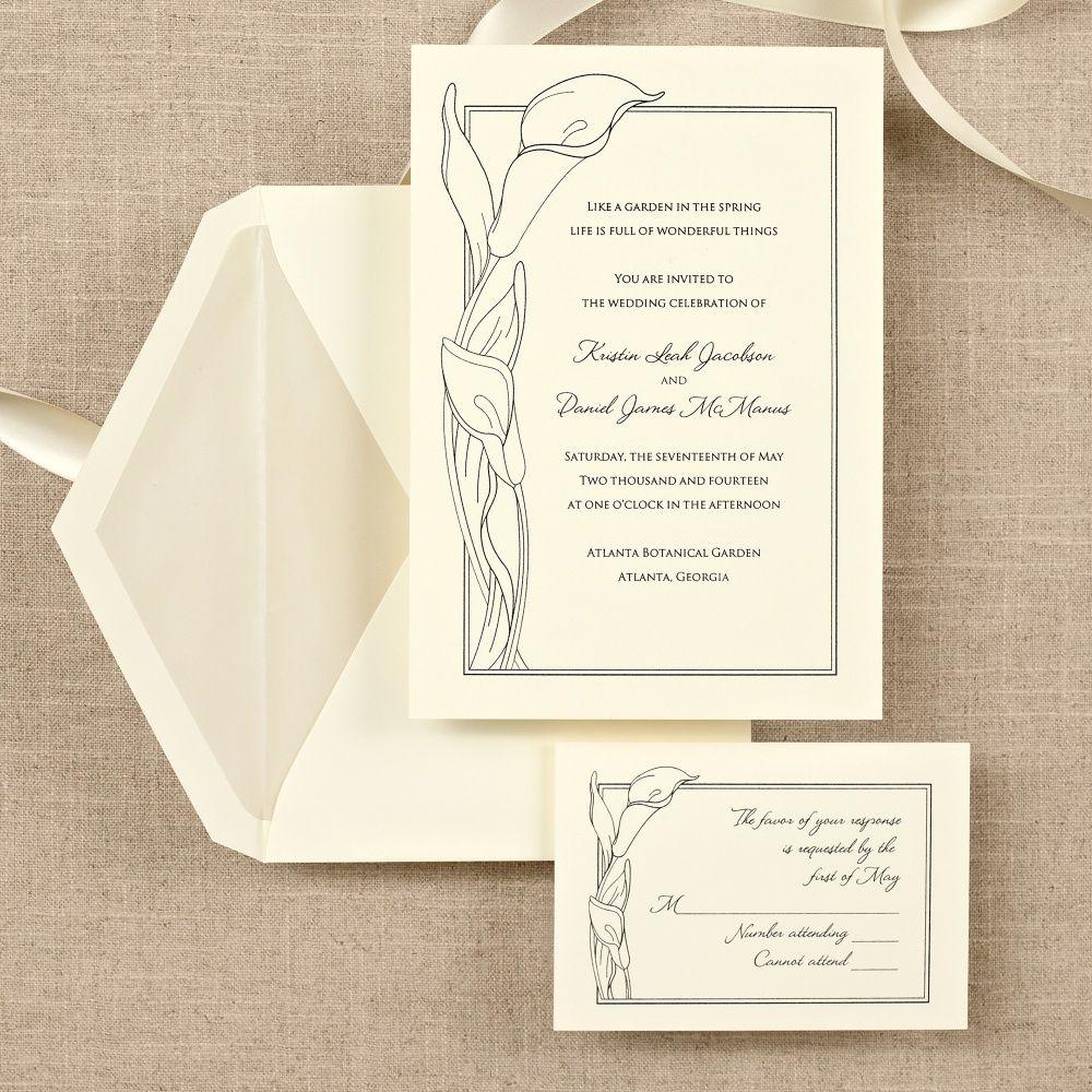 Simply Calla Lovely Wedding Invitation | #exclusivelyweddings ...