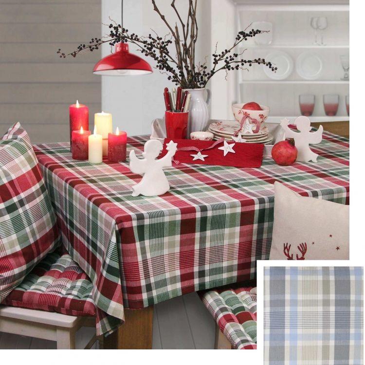 weihnachten im landhausstil tischdecke trondheim von sander tischdecken und deko feste usw. Black Bedroom Furniture Sets. Home Design Ideas