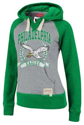 72657671 Philadelphia Eagles Women's Mitchell & Ness Post Season Hoody ...
