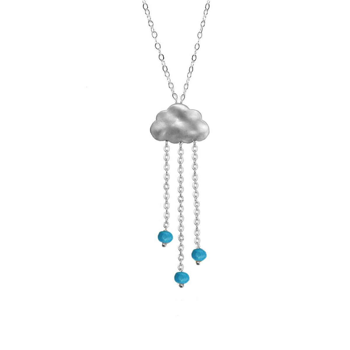 Fab.com | Rain Necklace Silver Plate Turq