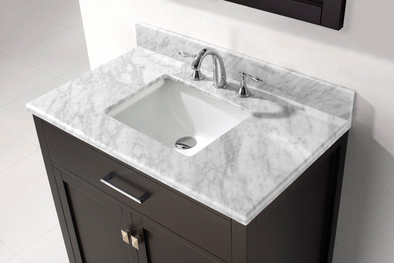 Virtu Usa Ms 2036 Wmsq Es Caroline 36 Inch Bathroom Vanity With