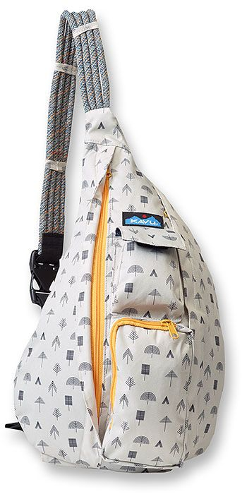 37399cc53 Totally jumping on the bandwagon with this Kavu Rope Sling, but I can't  help it. Love this design, and the little tree pattern!