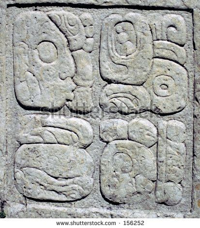 stock-photo-ancient-mayan-glyphs-writing-in-stone-tablet-156252.jpg (413×470)