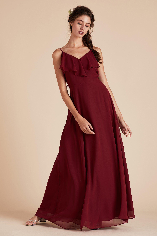 b6677ea10e Gracie Convertible Bridesmaid Dress in Chiffon burgundy by Birdy Grey.  Under  100