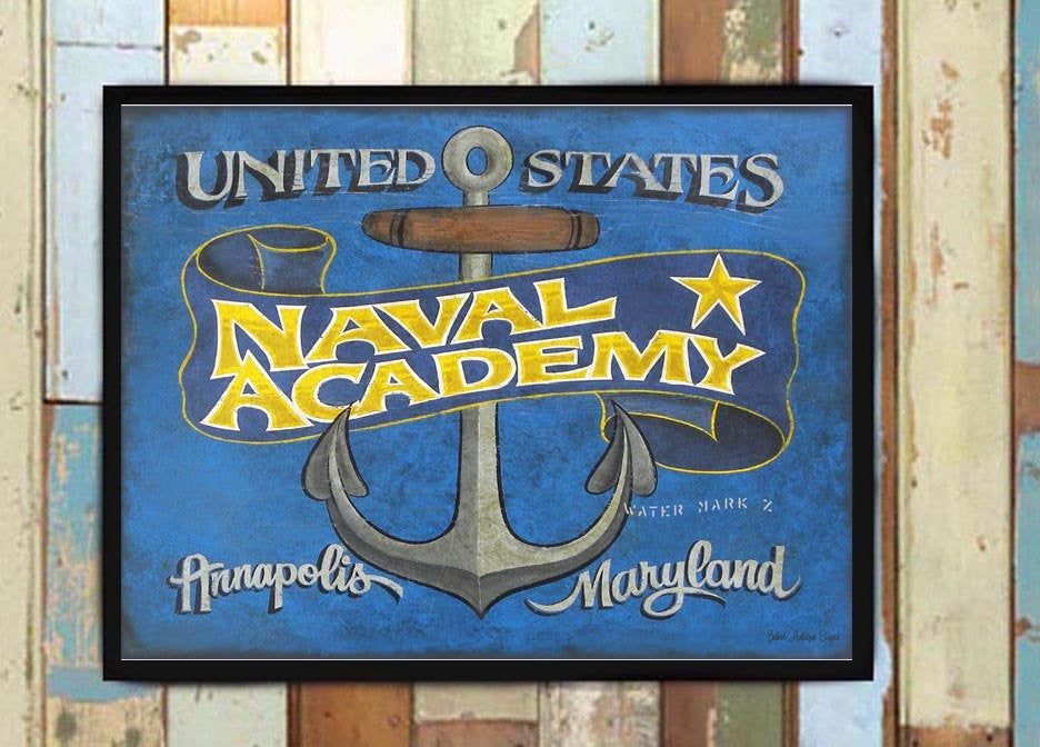 US Naval Academy PRINT. This is a print from an orginial