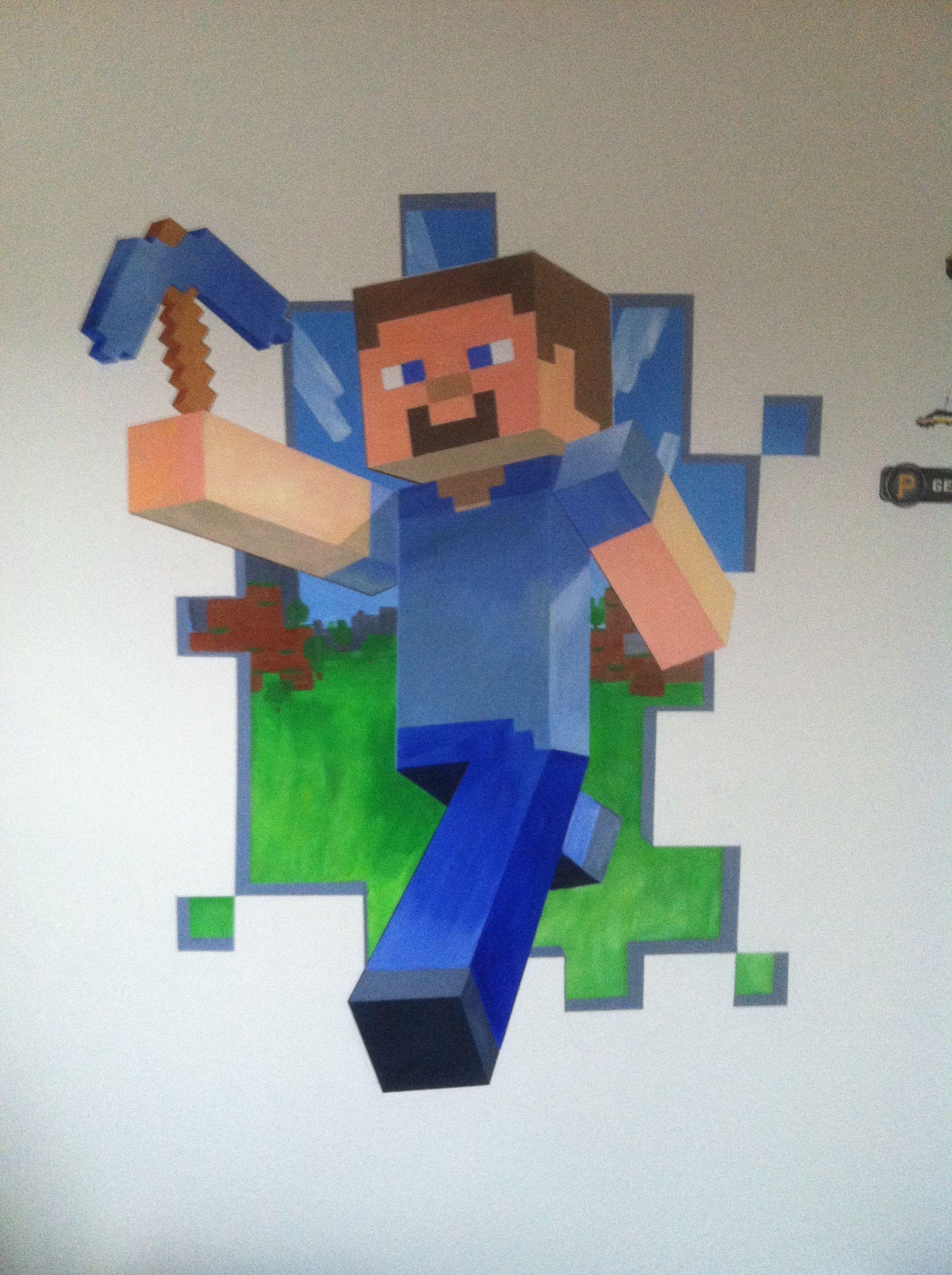 Camera Da Letto Minecraft minecraft mural