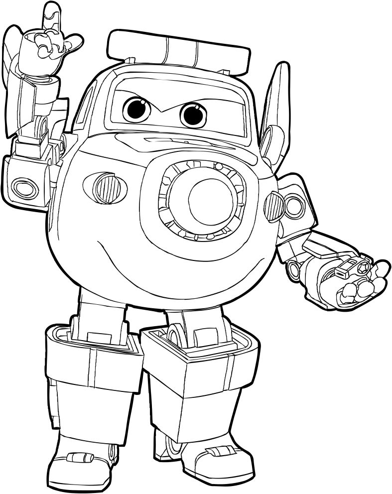 Top  Super Wings Printable Coloring Pages For Kids Coloring