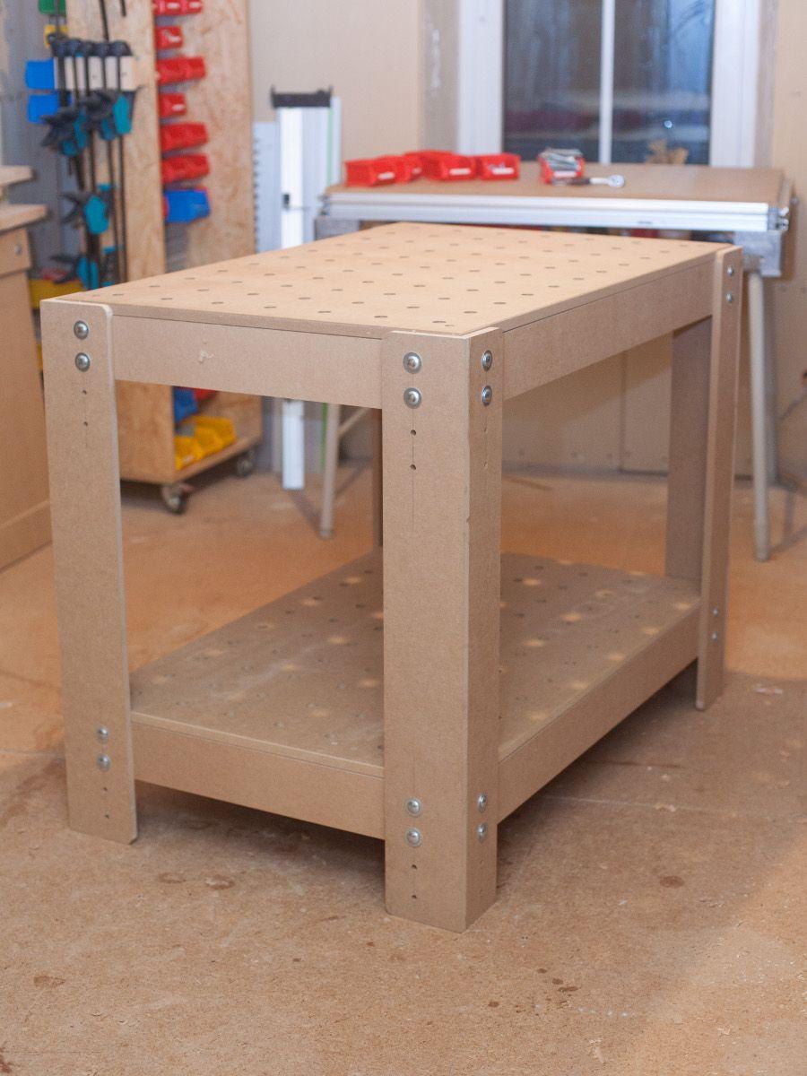 arbeitstisch mit lochplatte eigenbaukombinat ideen. Black Bedroom Furniture Sets. Home Design Ideas