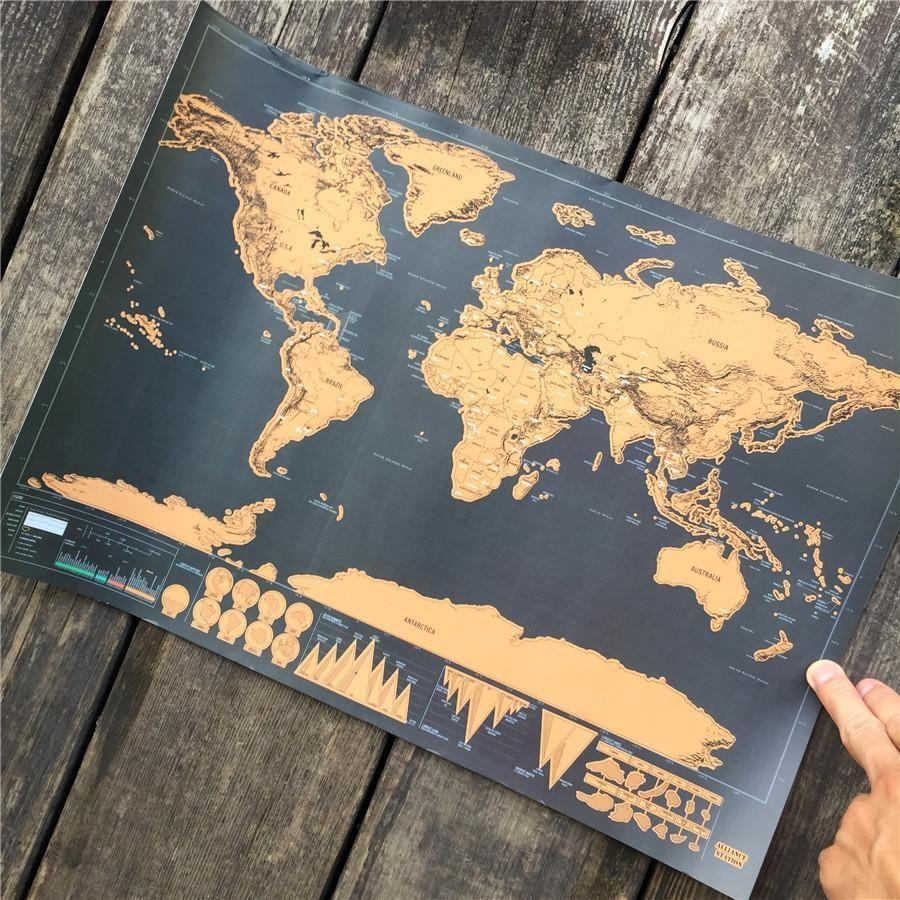 Wanderlust Scratch Off Map #inspireuplift explore Pinterest