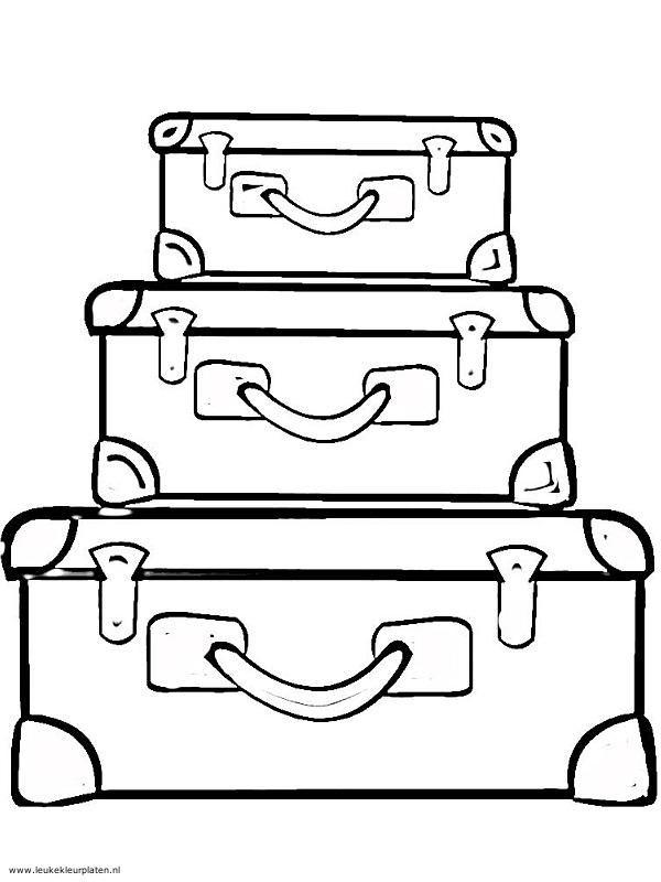 kleurplaat koffer zoeken seizoen zomer