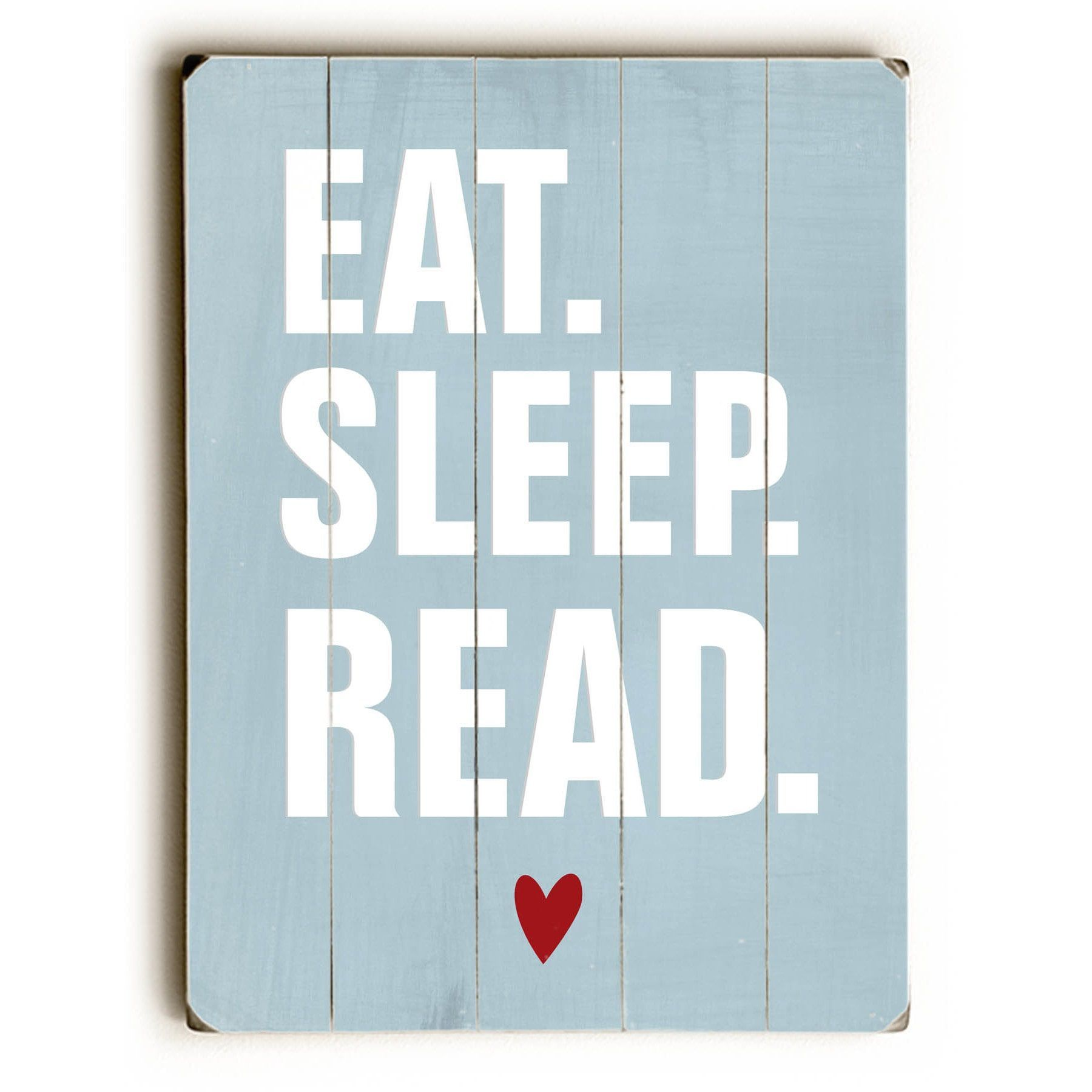 One Bella Casa Eat Sleep Read - Wall Decor by Ginger (Red) Oliphant ...