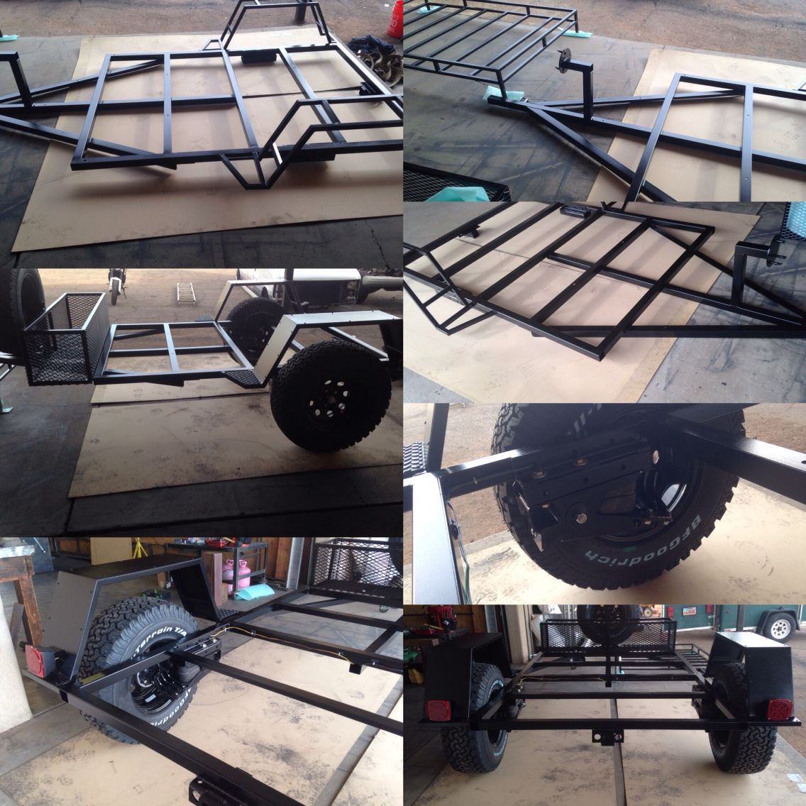 assembled frame after powder coating of the all over rover off road