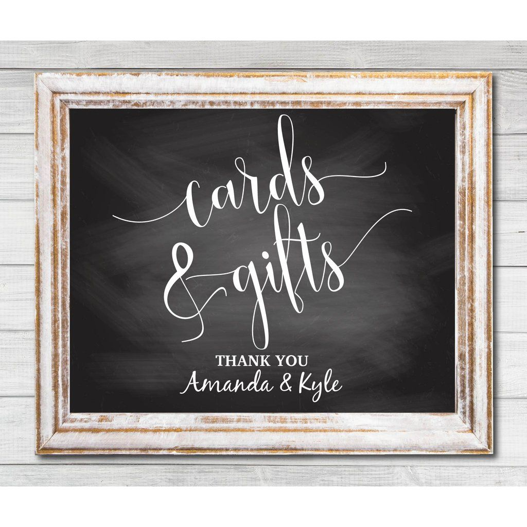 invitation wedding wording gifts%0A Chalkboard Cards and Gifts Sign  E  A