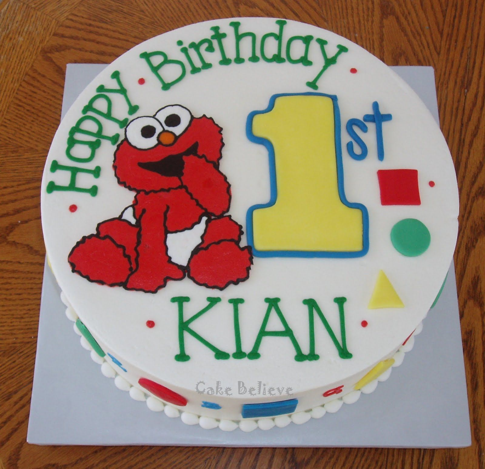 Baby Elmo 1st Birthday Elmo Birthday Cake Birthday Elmo