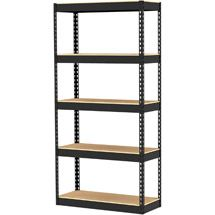 Utility Shelves Walmart Entrancing Walmart Gorilla Rack 34 X 14 X 72 5Shelf Lbeam Unit Black Decorating Inspiration