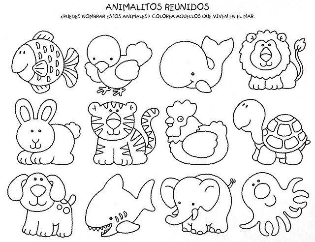 Animales | disegni | Pinterest | Animales, Dibujo y Molde