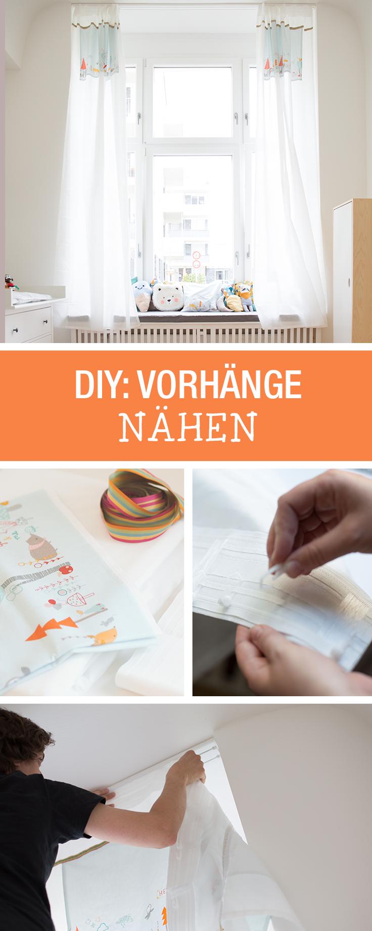 DIY-Anleitung: Vorhänge fürs Kinderzimmer nähen via DaWanda.com ...