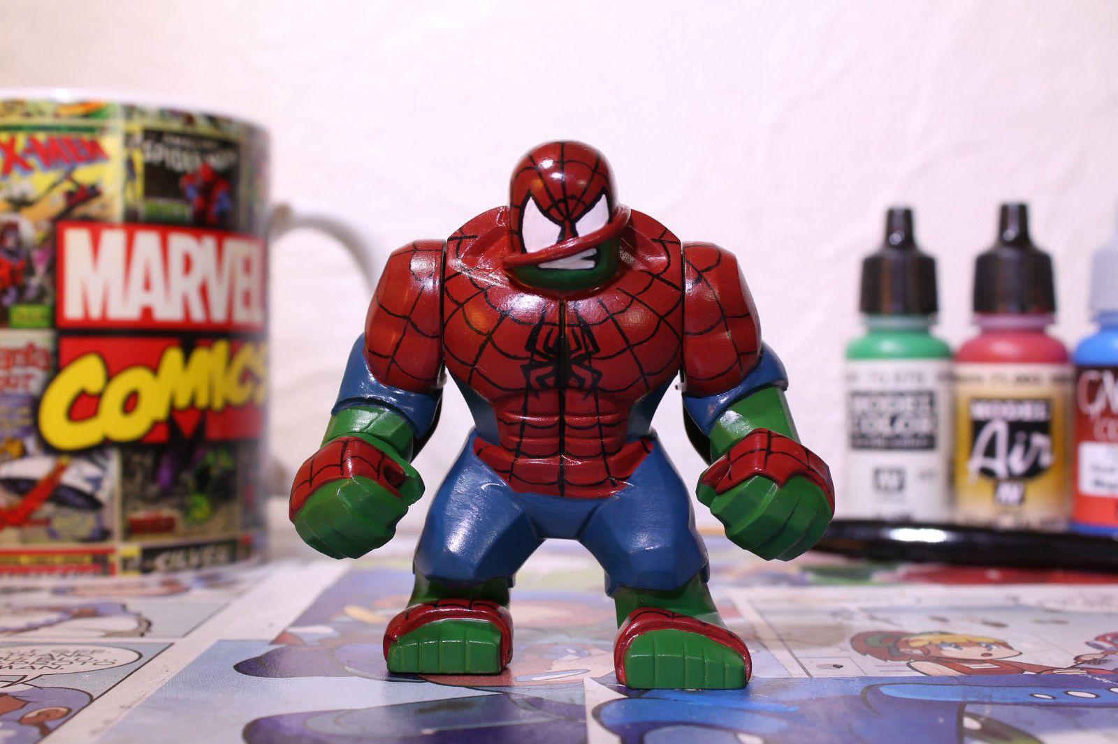 Hulked Out Spider Man Custom Hulk Big Figure   eBay ...