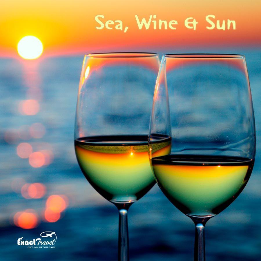 #sea #wine #beach #travel #exacttravel #cheaptickets