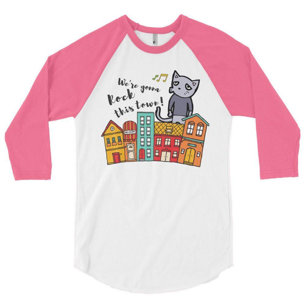 WE'RE GONNA ROCK THIS TOWN - Baseball 3/4 sleeve raglan shirt
