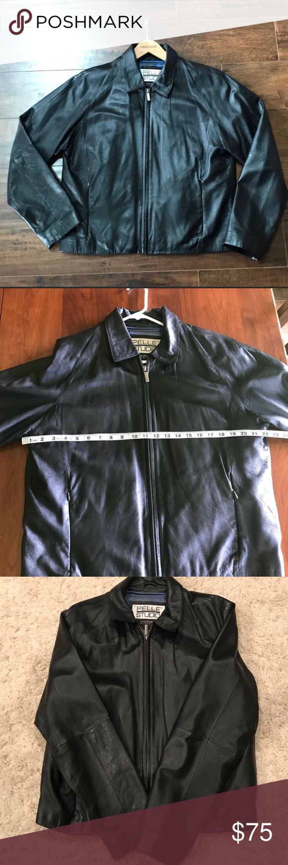Wilsons leather jacket mens M pelle studio Wilsons