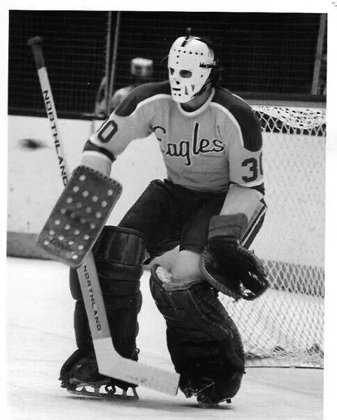Denis Herron With Salt Lake Golden Eagles Goalie Mask Goalie Vancouver Canucks