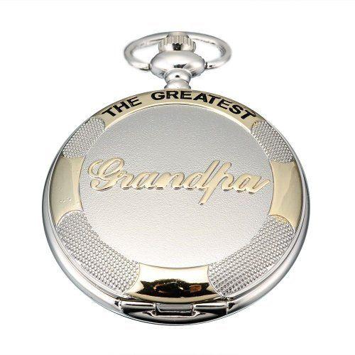 AMPM24 Mens Silver Golden Grandpa Dangle Pendant Pocket Quartz Watch + Chain AMPM24. $13.99