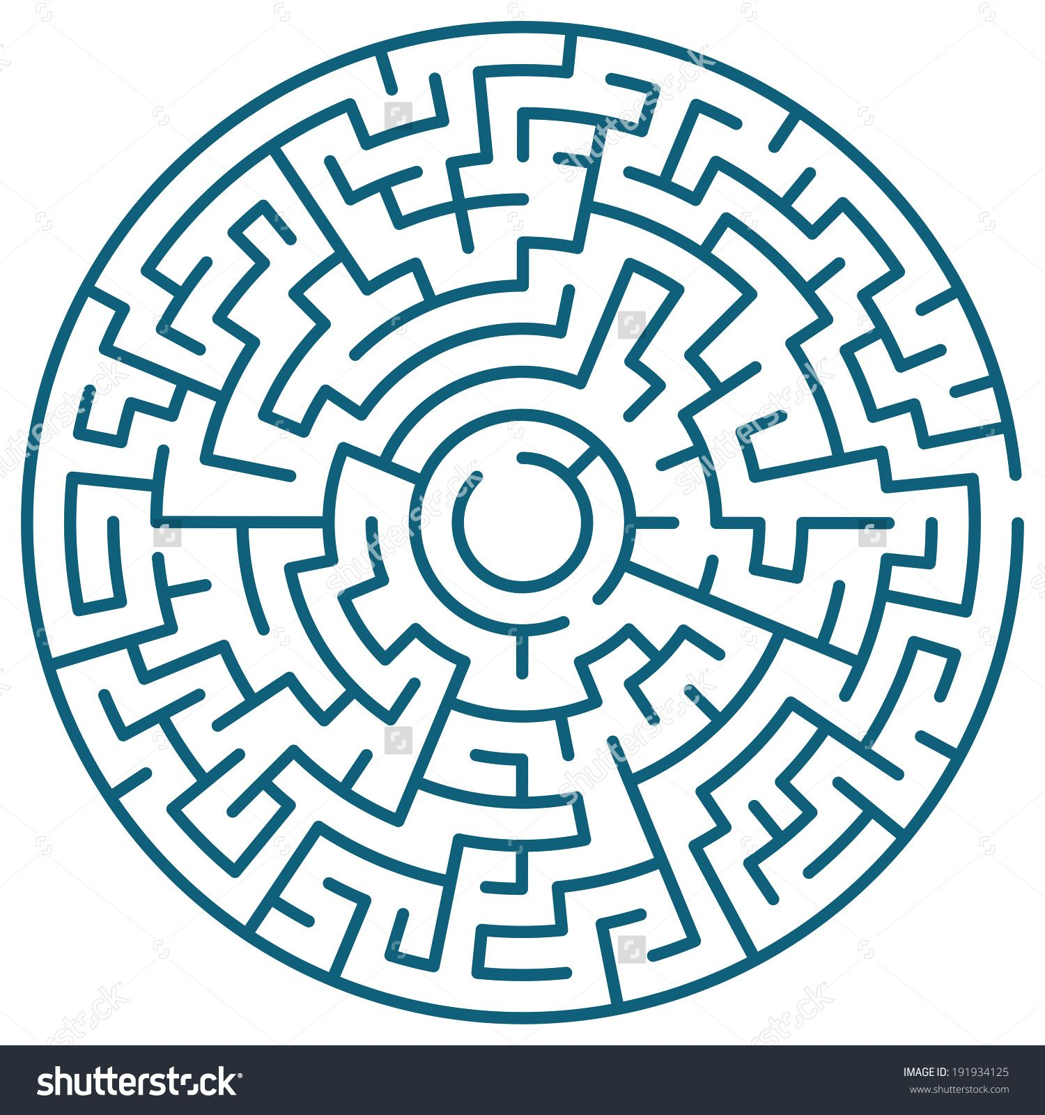 Illustration Of The Round Maze In