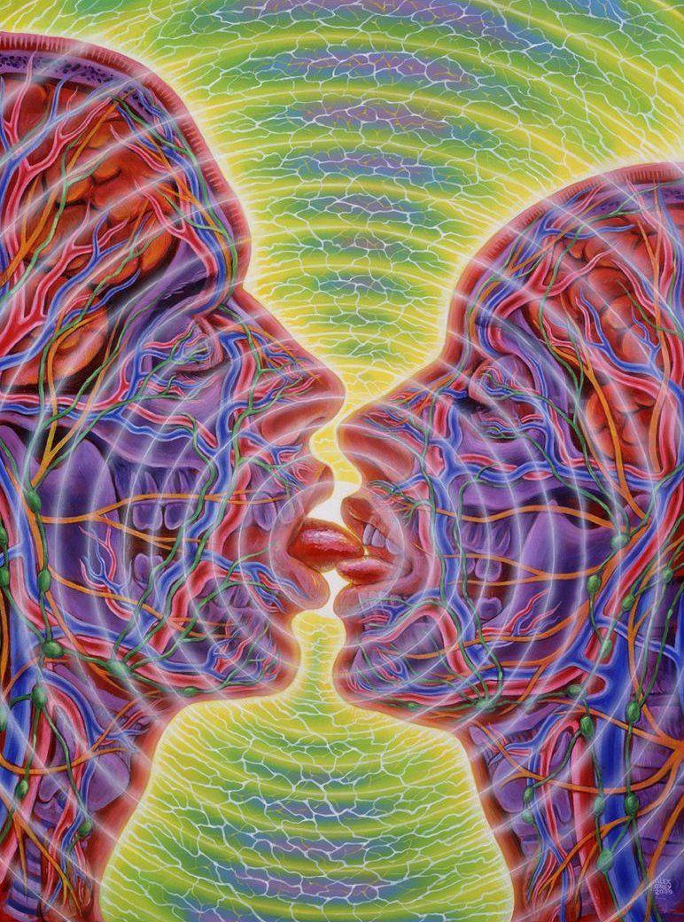 Alex Grey Kiss Alex Grey Alex Gray Art Grey Art