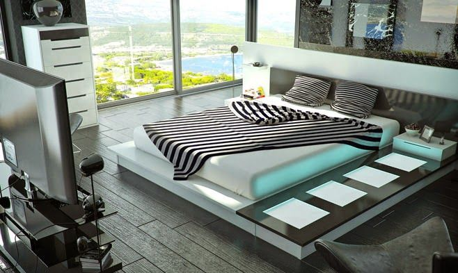 15 Bedroom Designs with High Technology Theme > Bedroom > HomeRevo.com |  QWERTY | Pinterest | Theme bedrooms, Bedrooms and House