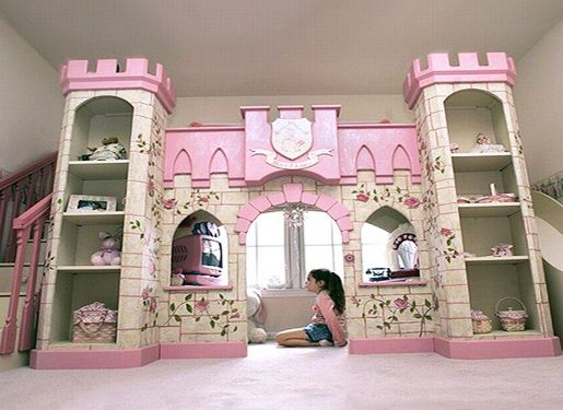 Toddler Loft Bed For Girl Castle Bunk Beds Kids Bedroom Design