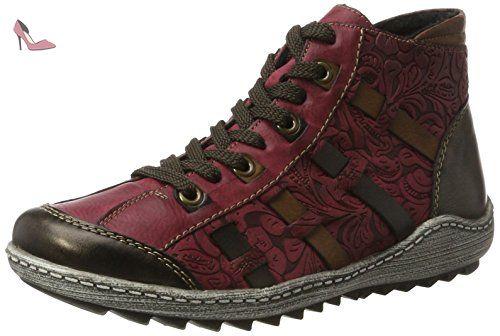 Remonte Sneakers antikwinebrandy Rouge R1482 Hautes 35 Femme 0xf7qBxwS