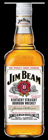 JIM BEAM WHITE BOURBON Jim beam, Bourbon, Beams