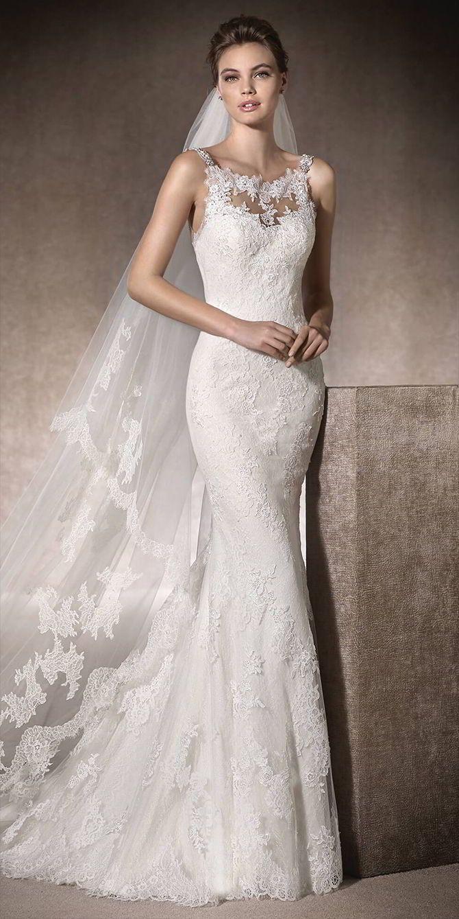 Mermaid wedding dresses romantic mermaid wedding dress with round