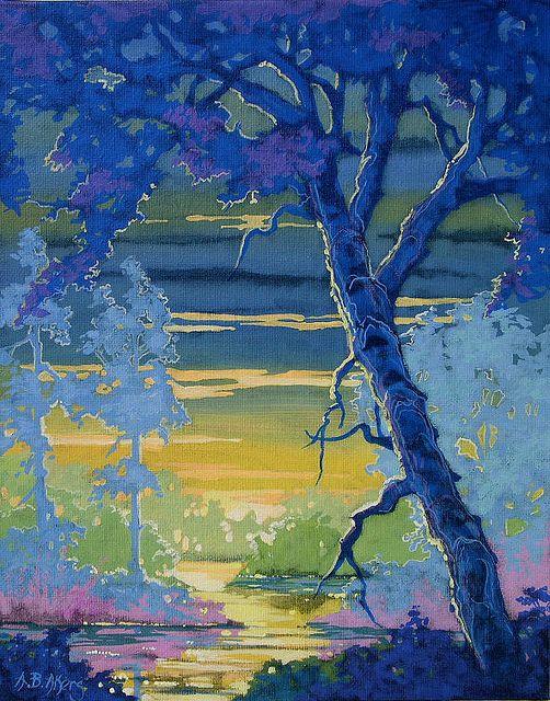 Moorcroft Musings Series original painting Backwaters