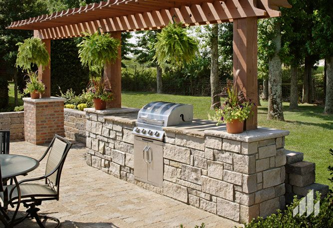 Outdoor Patio Kitchen General Shale, General Shale Fireplace Kit