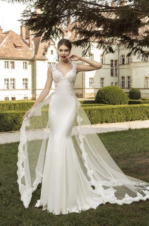 Detachable Train Sweetheart Satin Trumpet Mermaid Wedding Dress Ace0002