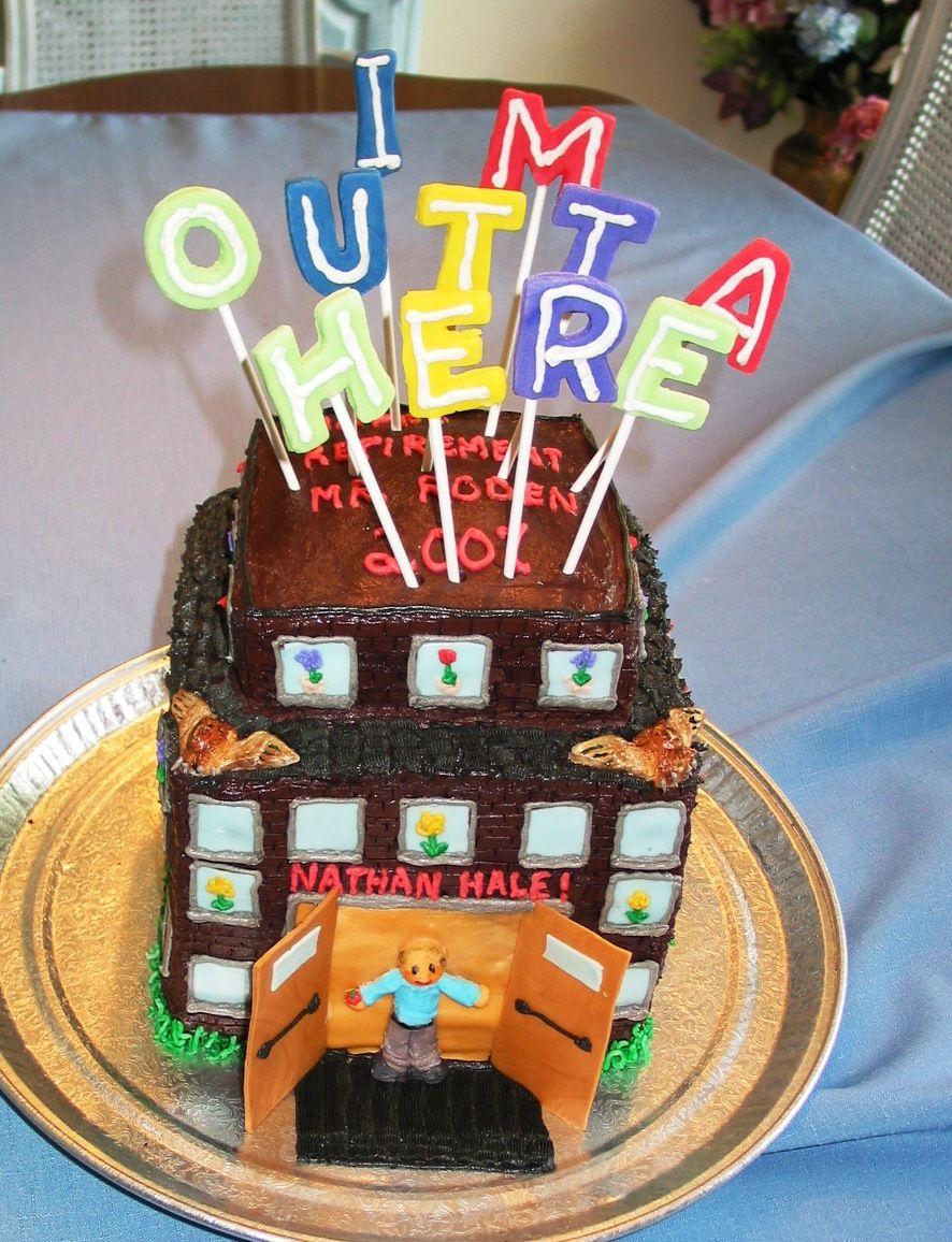 retirement cakes car - Google Search   Retirement party ...